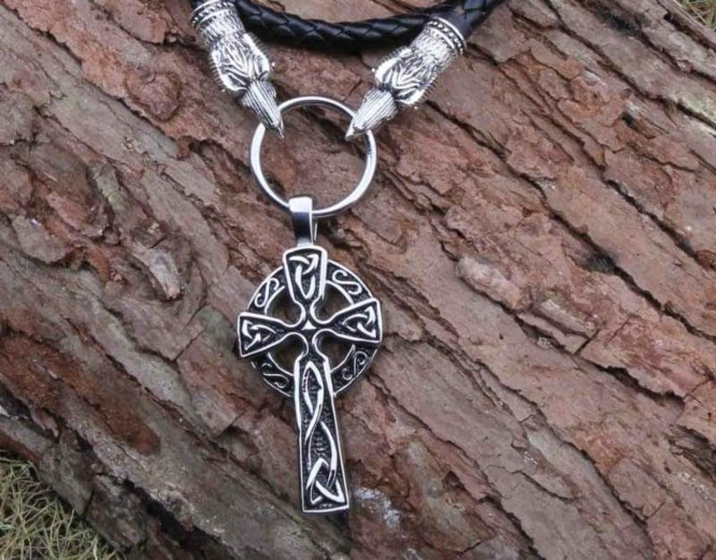 keltische Symbole Kreuz Halskett