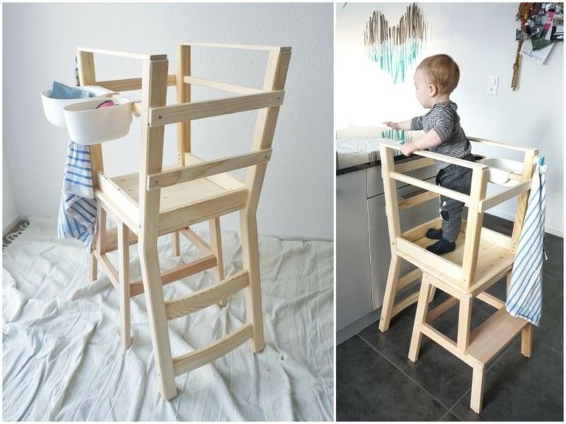 Kleinkind Hilfe Küche Lernturm