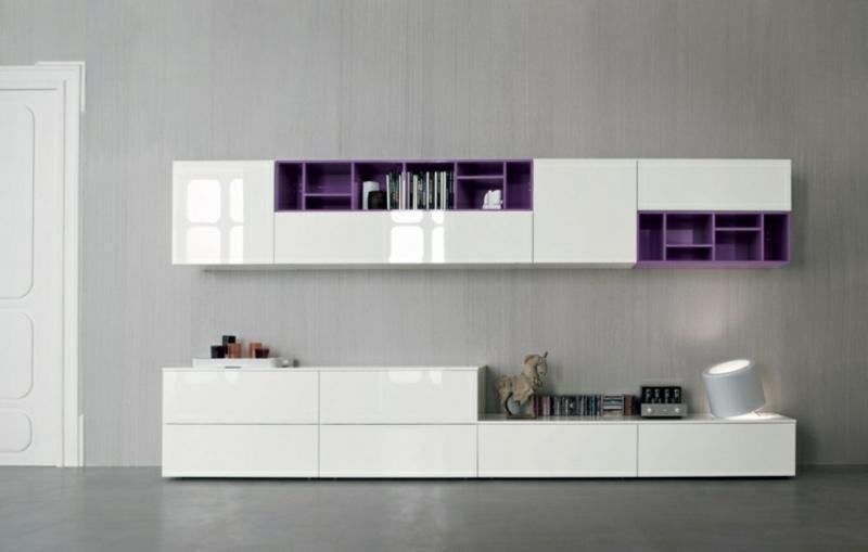 Wohnwand modern Hochglanz sehr stilvoller Look