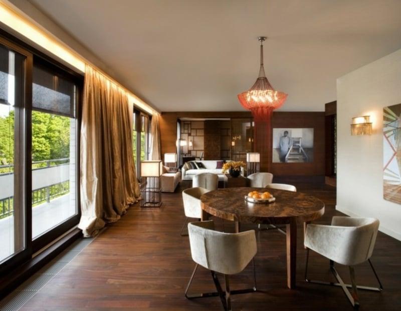 indirekte Beleuchtung Decke Wohnzimmer coole LED-Leisten