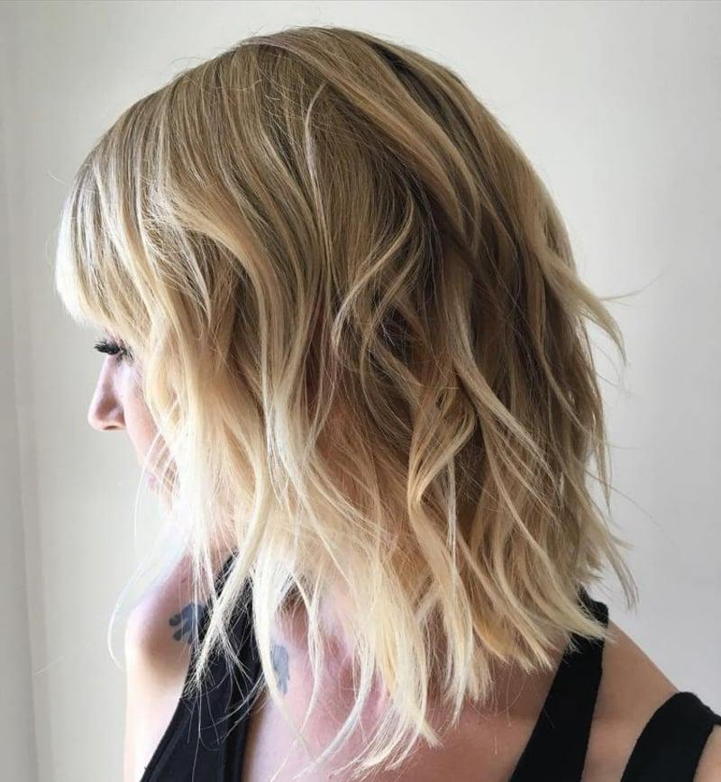 Frisuren für dünnes Haar LOB wellig