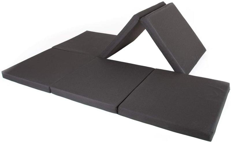 Doppel Klappmatratze in Schwarz praktisch