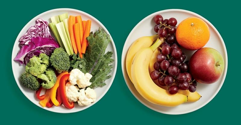 Punkte Diät mehr Obst und Gemüse essen