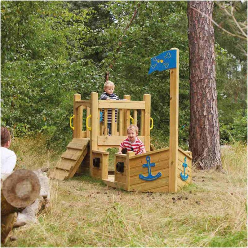 Piratenschiff bauen für Kinder aus Holz