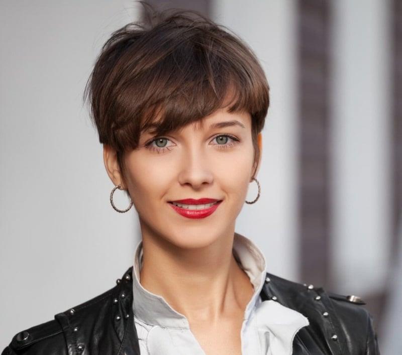 Frisuren für dünnes Haar Pixie Cut