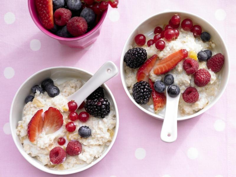 Porrigde mit Früchten gesund