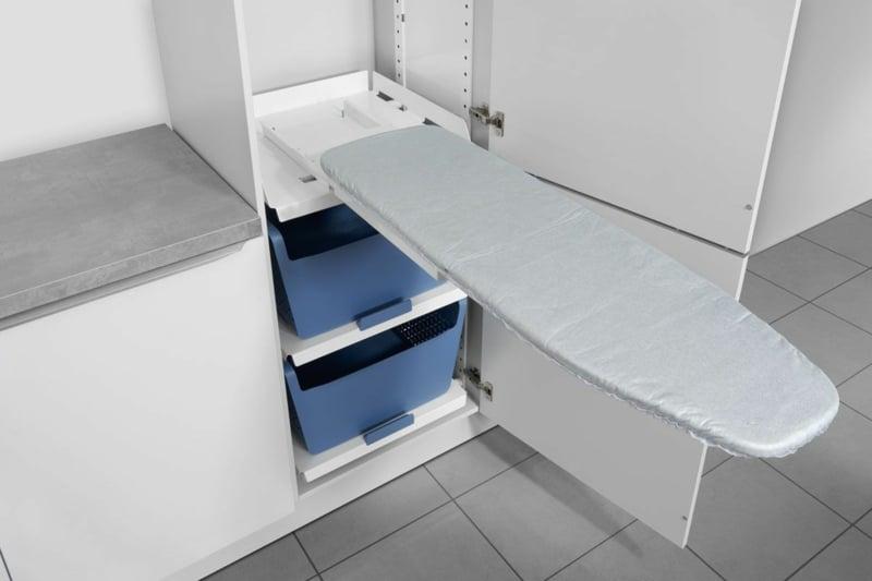 Bügelbrett Schrank eingebaut Kleinwohnungen
