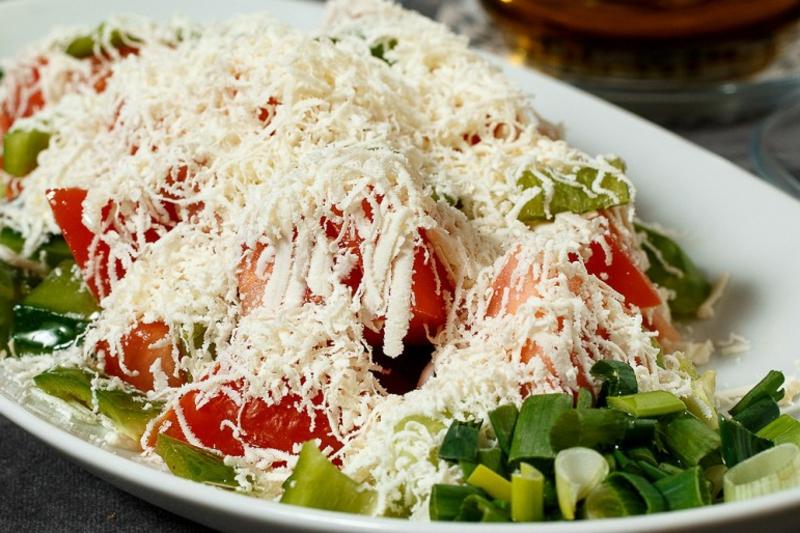 bulgarische Küche Schopska Salat
