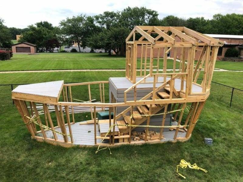 Piratenschiff bauen aus Holzlatten