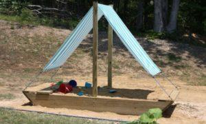 Sandkasten Segelboot Sonnenschutz Kinder