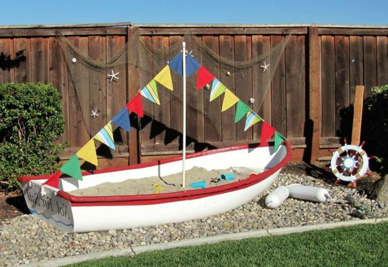 Boot Garten Sand Kinder Spielplatz