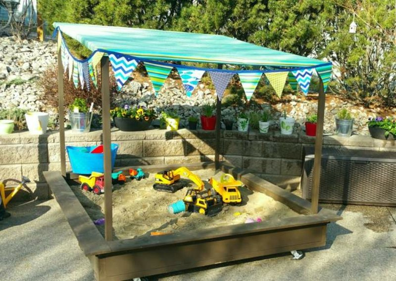 Spielplatz für die Kinder gestalten