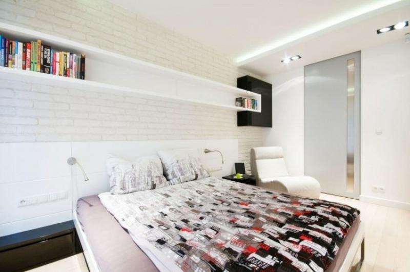Schlafzimmer in Weiß LED Streifen