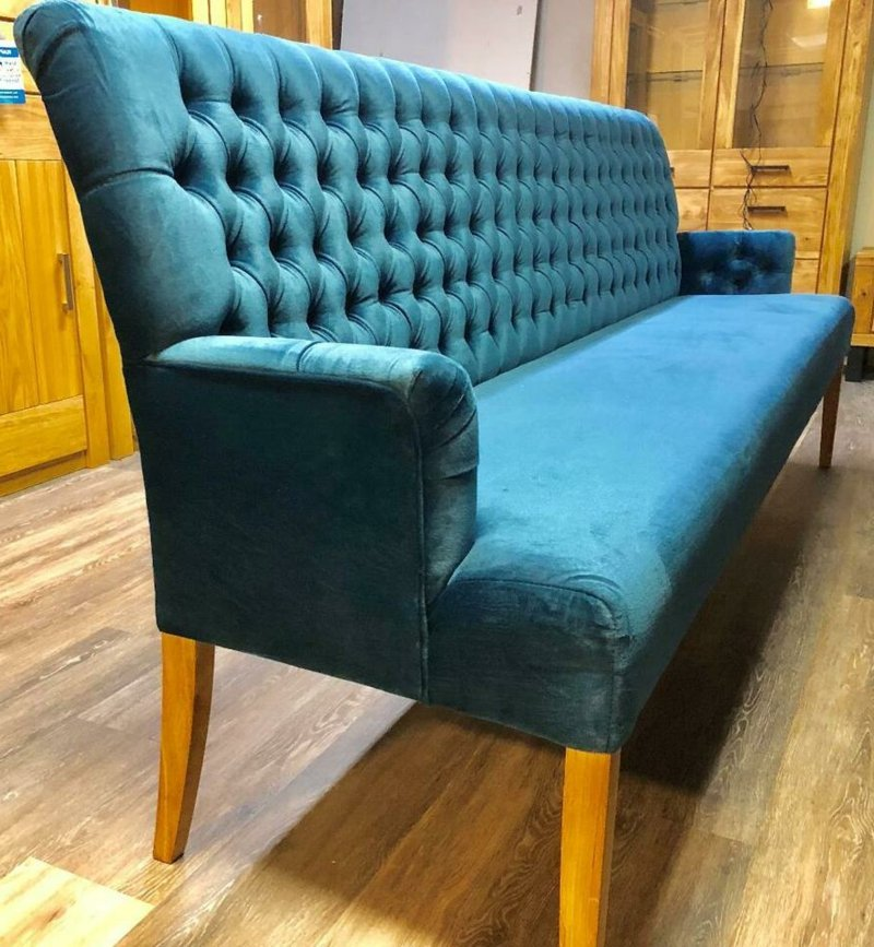 Sofa in Tiefblau Stoffpolsterung