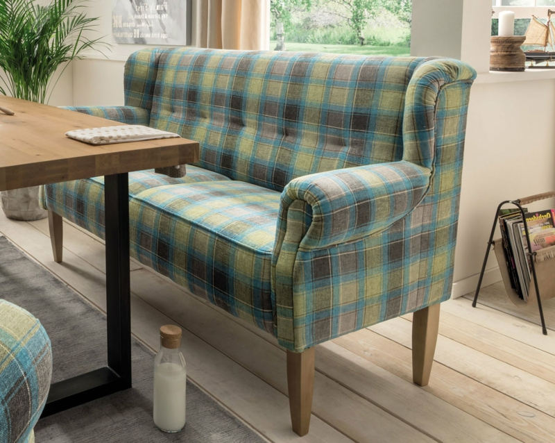Retro Sofa Polsterung Karomuster