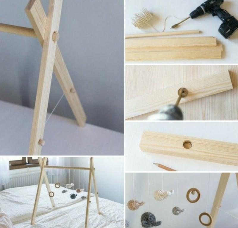 Spielbogen aus Holz bauen