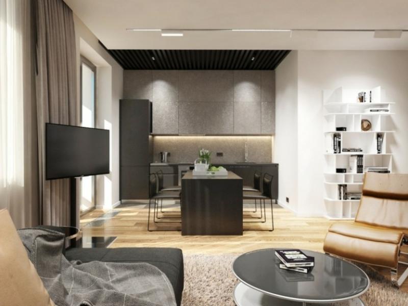 indirekte Beleuchtung Decke und Wand küche modern