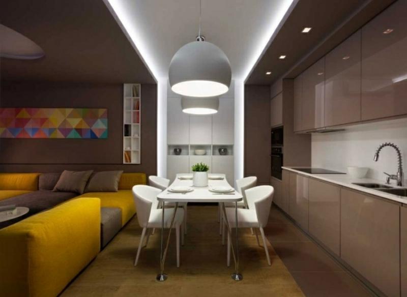 Wohnküche indirektes Licht Essbereich