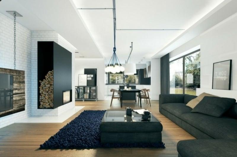 LED Beleuchtung für ein modernes Wohnzimmer
