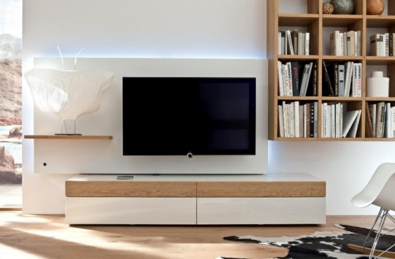 Wohnwand modern TV Element LED-Beleuchtung integriert