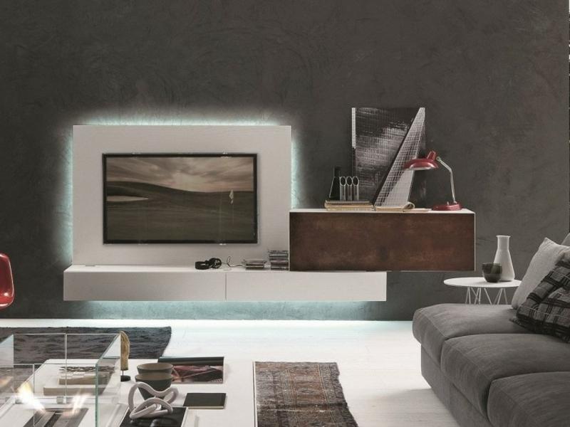 Anbauwand mit Fernseher LED-Beleuchtung