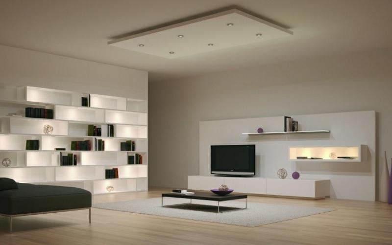 Anbauwand minimalistisches Wohnzimmer