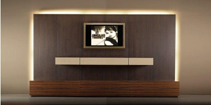 Wohnwand modern minimalistisch