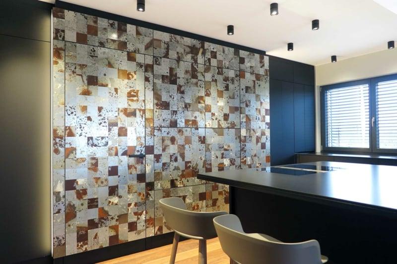 Wandpaneele Küche Akzentwand gestalten