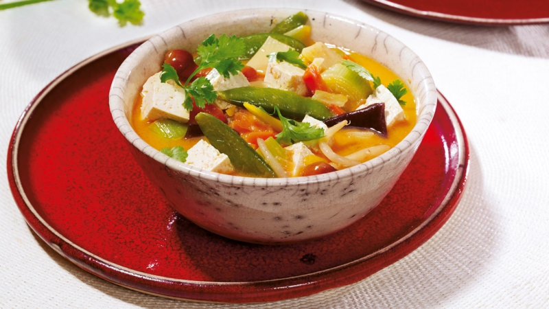 Asia Curry Suppe mit Tofu
