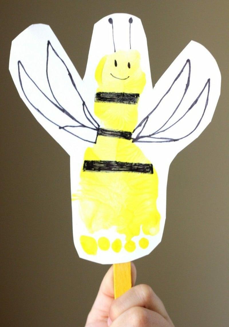 Biene malen Fußabdruck