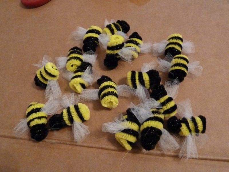 tolle Bienen aus Stoff