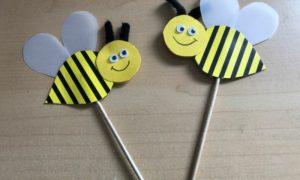 Bienen basteln