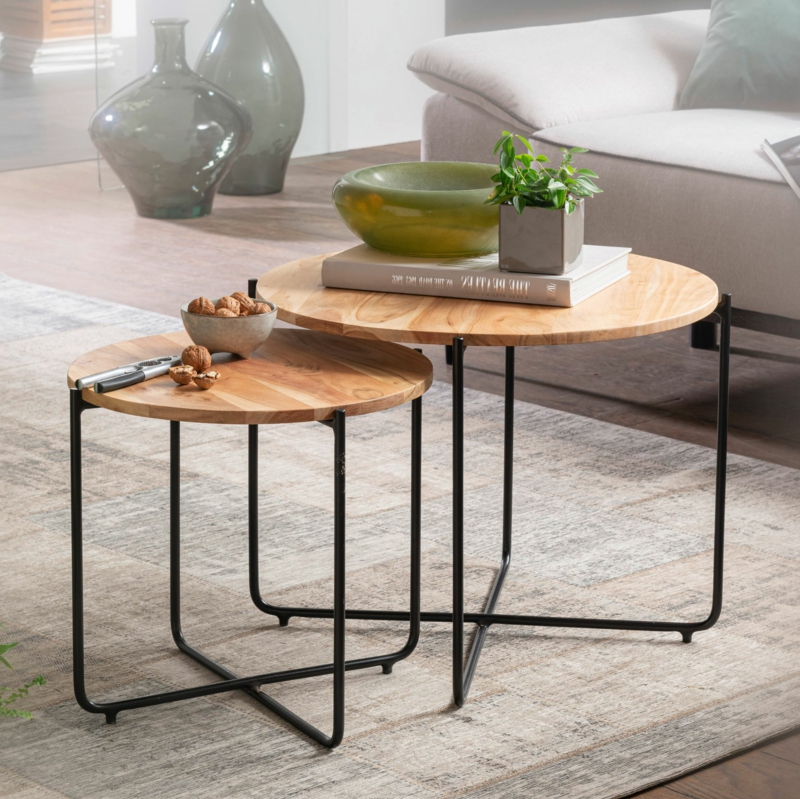 Gastronomie Möbel Couchtische Holz Metal