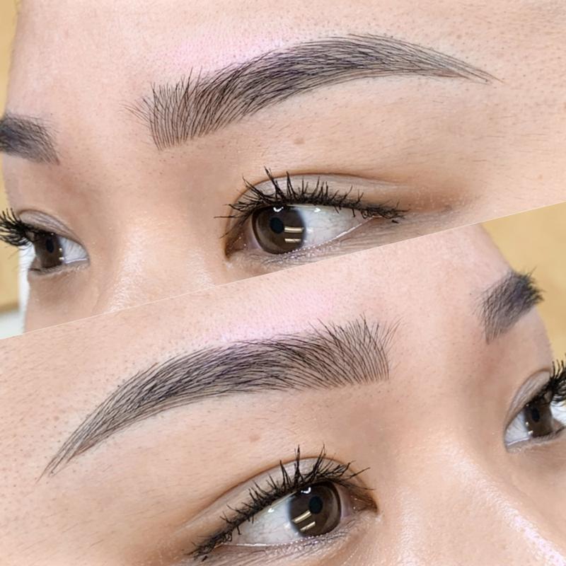 permanentes Make-up für dichte Augenbrauen