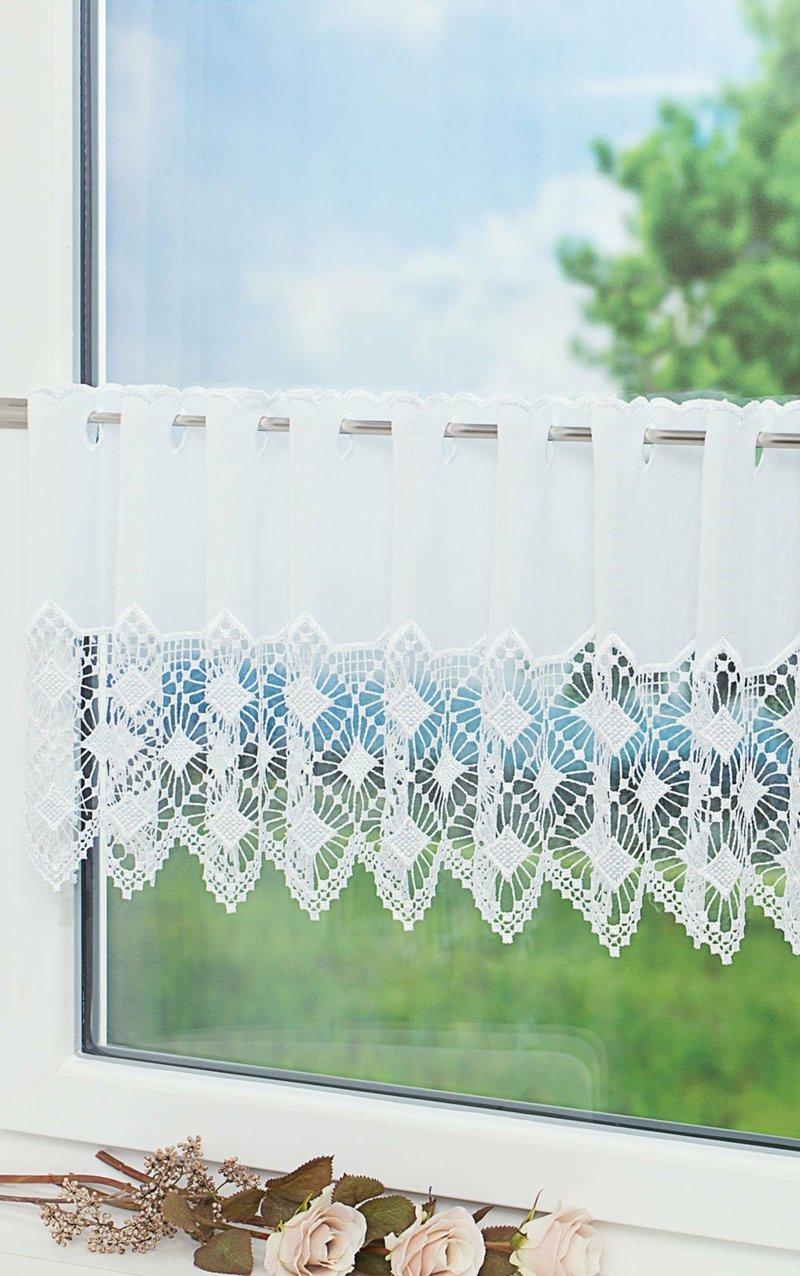 kurze Gardine dekorativ Küchenfenster