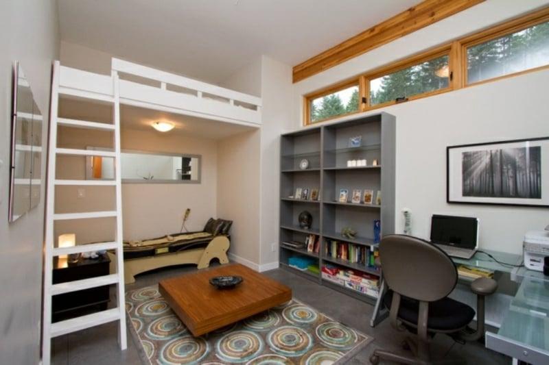 Einzimmerwohnung mit Etagenbett