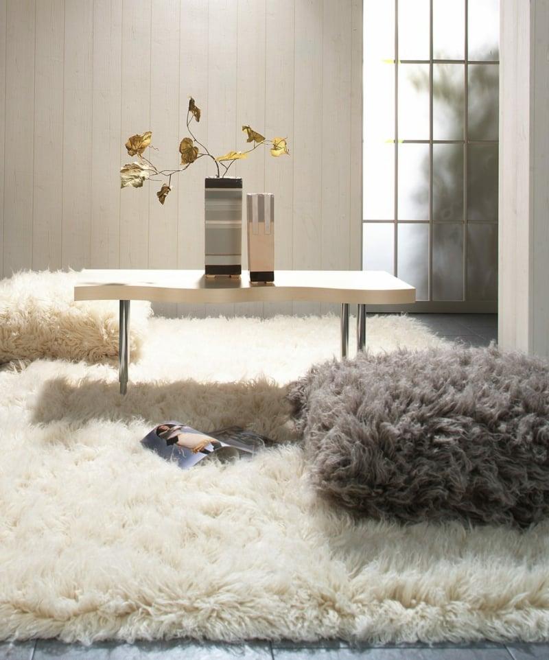 kuschelweicher Teppich lange Fasern