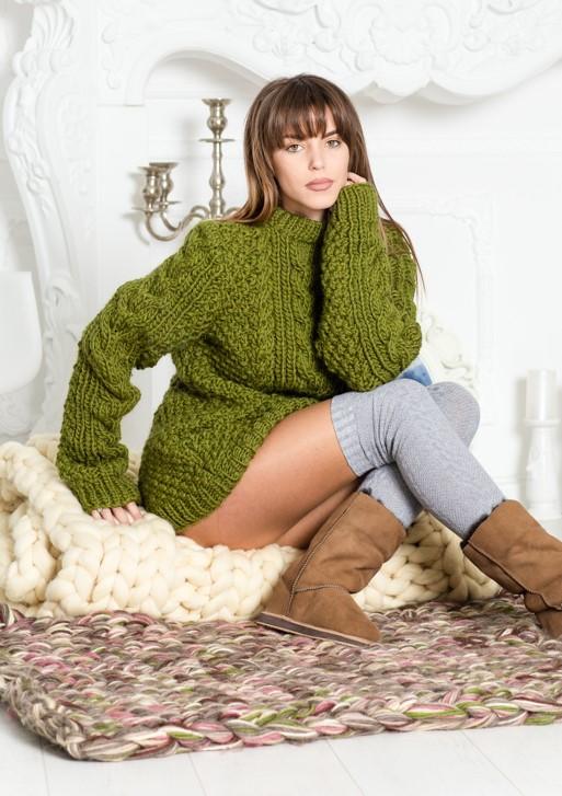 Gestrickte Pullover können Sie leicht kombinieren!