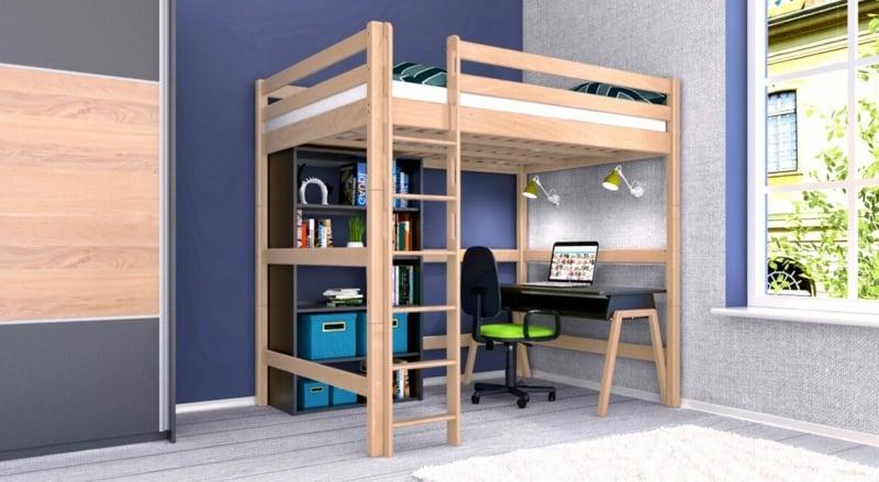 Etagenbett mit Home Office herrliche Idee
