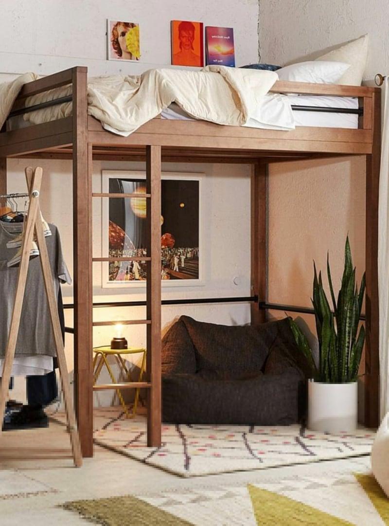 Etagenbett Holz Sitzecke darunter