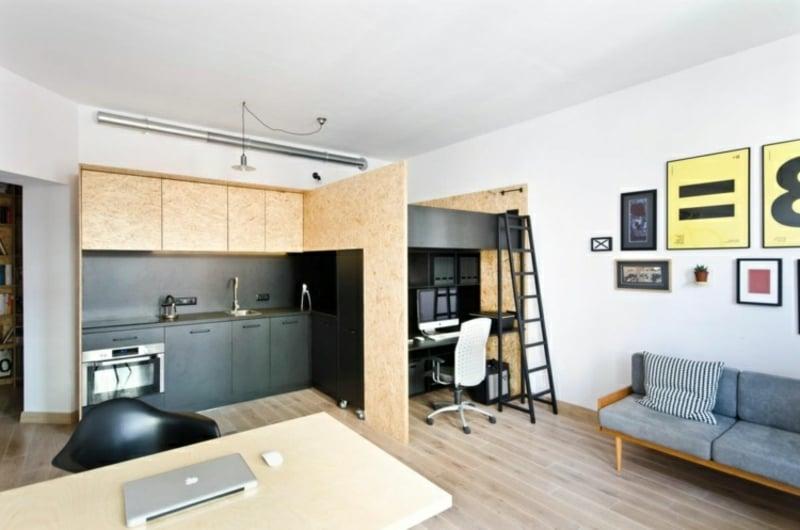 Hochbett für Erwachsene Home Office
