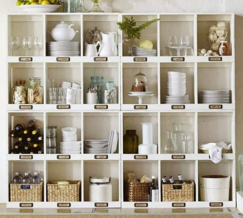 IKEA Regal Geschirr aufbewahren
