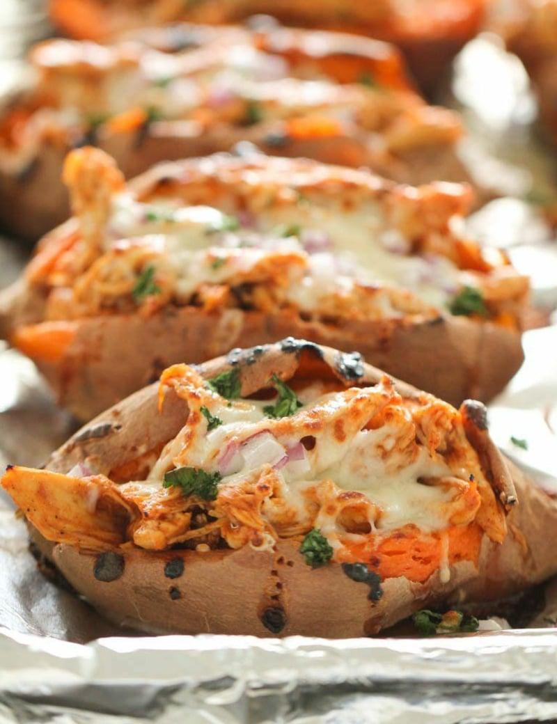 Süßkartoffel Rezepte Jamie Oliver gebacken mit Käse