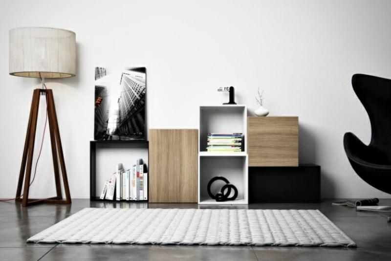 Kallax Ideen stilvoll Wohnzimmer