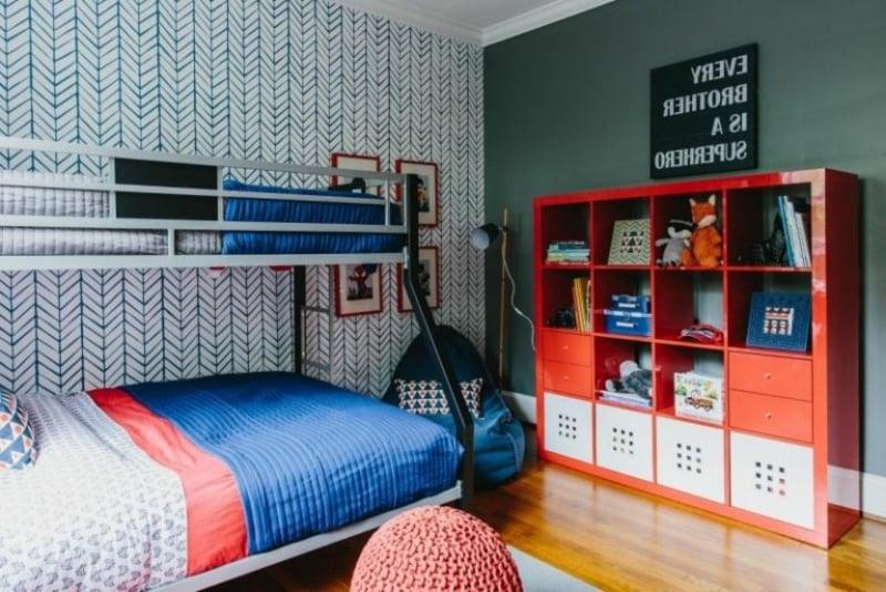 Jugendzimmer Stauraum Regalsystem