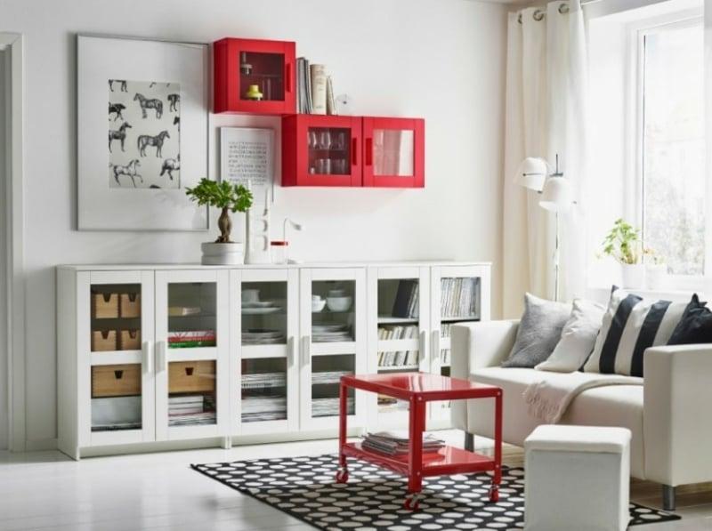 Wohnzimmer Regale praktisch