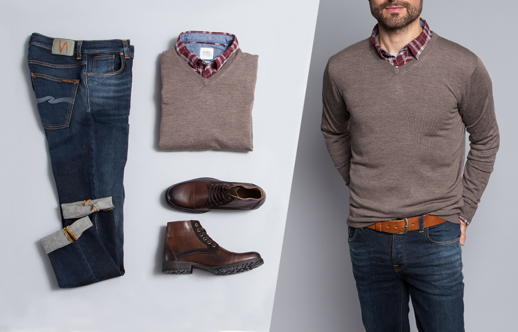 Business Casual Herren Hemd mit Jeans tragen