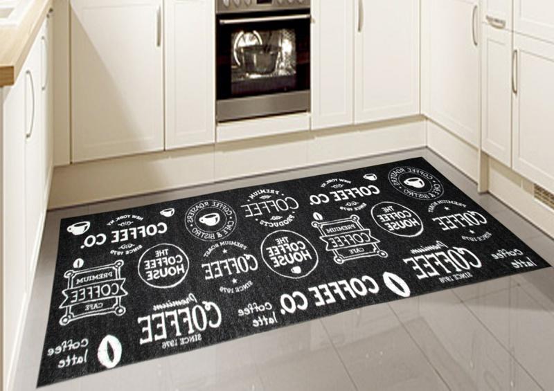 Küchenteppich schwarz praktisch