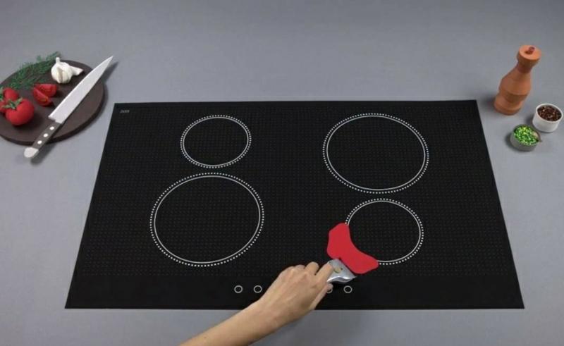 Kochplatte reinigen Glaskeramik Schaber