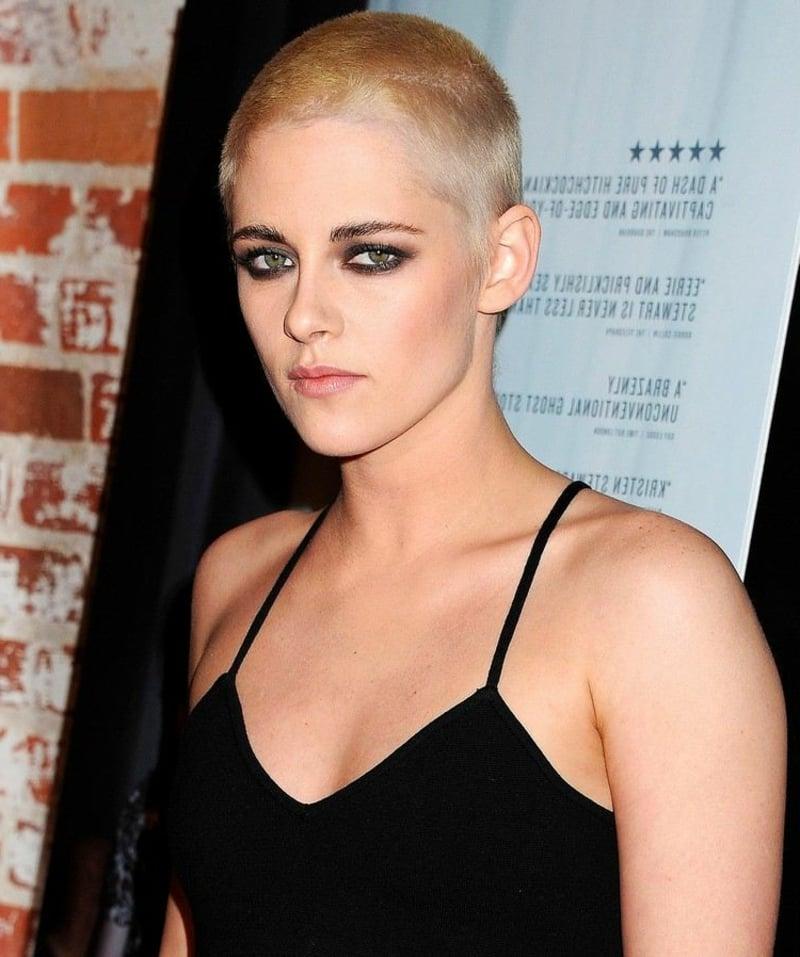 Haare kurz rasieren Frau Kristen Stewart